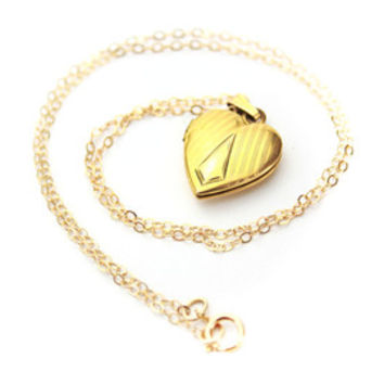 14K GF Antique W & H Monogrammed Locket  / B 1