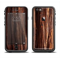 The Aged RedWood Texture Apple iPhone 6 LifeProof Fre Case Skin Set