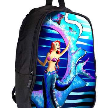 Sparkling Mermaid 900017d4-54f6-4b27-b639-dceeea956b5d for Backpack / Custom Bag / School Bag / Children Bag / Custom School Bag *02*