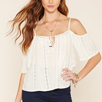 Crocheted Open-Shoulder Top