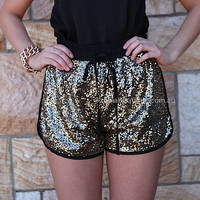 ALL THAT SHIMMERS SEQUIN SHORTS , DRESSES, TOPS, BOTTOMS, JACKETS & JUMPERS, ACCESSORIES, 50% OFF SALE, PRE ORDER, NEW ARRIVALS, PLAYSUIT, COLOUR, GIFT VOUCHER,,SHORTS,Sequin,Gold Australia, Queensland, Brisbane