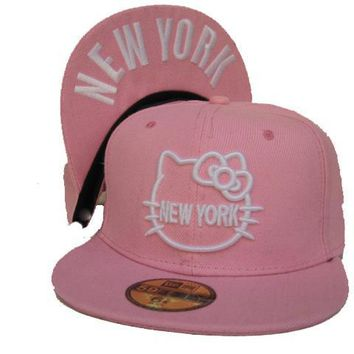 qiyif Hello Kitty New Era 59FIFTY New York Cap Pink-White