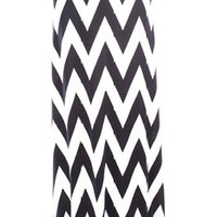 Young Aloud CHEVRON PRINT WIDE WAIST BAND MAXI SKIRT XL whiteblack
