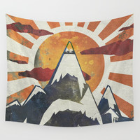 Mount Spitfire Wall Tapestry by happymelvin