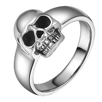 Sterling Silver Punk Skull Ring Vintage Cool Jewelry