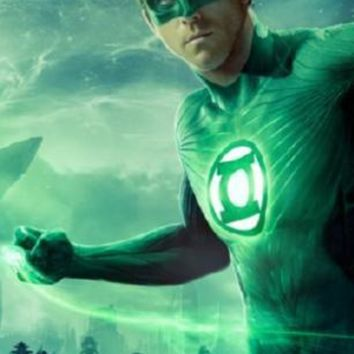 Green Lantern The Movie poster Metal Sign Wall Art 8in x 12in