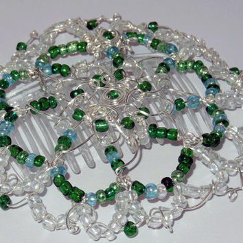 Women's Beaded Kippah - One of a kind Jewish Headcovering