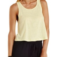 Button-Up Back Slub Tank Top by Charlotte Russe