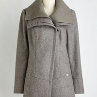 Urban Long Long Sleeve Diagonal Alley Coat in Smoke
