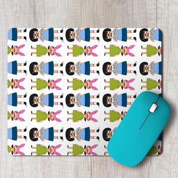 Rectangle Mouse Pad Tina And Louise Belcher From Bobs Burgers Cartoon Show