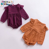 New 2017 Fashion Baby Girls Clothes Long Sleeve Baby Rompers Newborn Cotton Baby Girl Clothing Jumpsuit Infant Clothing