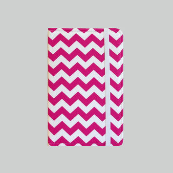 Kindle Cover Hardcover, Kindle Case, eReader, Kobo, Nook, Nexus 7, Kindle Fire HDX, Kindle Paperwhite, Nook GlowLight Chevron Red