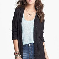 Painted Threads Hooded Cardigan (Juniors) | Nordstrom