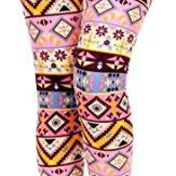 VIV Collection Popular Printed Brushed Buttery Soft Leggings Regular and Plus 40+ Designs List 3