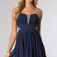 Short Strapless A-Line Cocktail Dress from JVN by Jovani