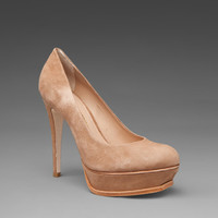 Pour La Victoire Portia Pump in Tan Suede from REVOLVEclothing.com