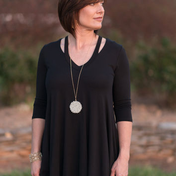 Spice It Up Tunic - Black