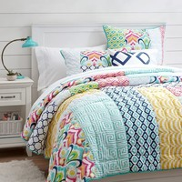 Palm Springs Patchwork Quilt + Sham