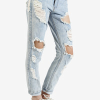 Hella Distressed Boyfriend Jeans