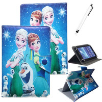 Congelados Princess Elsa PU Leather Case 7 inch Tablet Stand Cover 7.0 Tablet Cover 7 inch Universal Tablet Case for kids girls