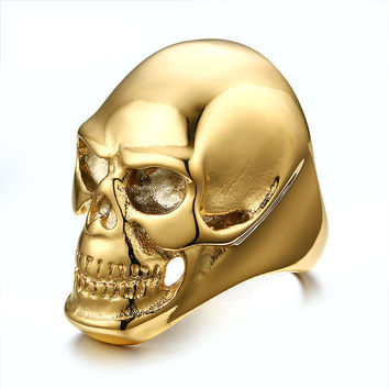 Ghost Era - Skull Ring - Black/Gold