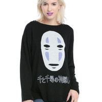 Her Universe Studio Ghibli Spirited Away No-Face Kanji Girls Sweater