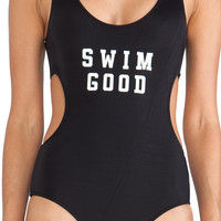 This is a Love Song Swim Good One Piece in Black