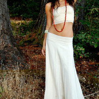 Maxi Avalon Skirt Made From Raw Cotton, long gypsy hippie skirt, Bohemian, circle, natural, feminine, Ethnic