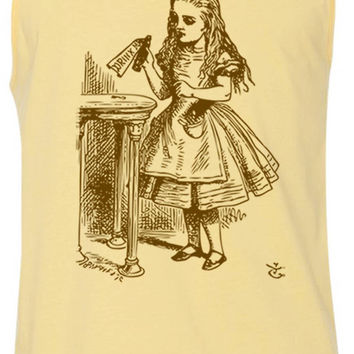 Alice in Wonderland - Drink Me (Brown) Tank-Top T-Shirt
