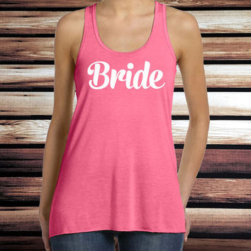 Bride Tank Top - Bachelorette Party Tank Top - Bridesmaid Tank Top - Bride's Entourage Tank Top