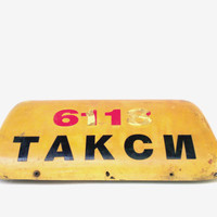 Vintage taxi cab sign magnetic taxi lighted sign industrial car sign dorm room sign soviet taxi sign factory car sign topper cover sign