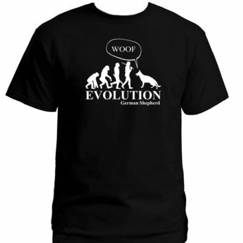 German Shepherd Human Evolution T-Shirt - Men's Tops