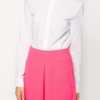 ASOS Shirt With Double Collar - White