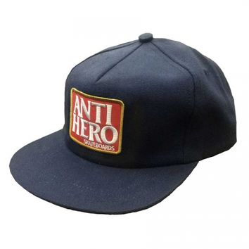 Anti-Hero Skateboards Anti-Hero Reserve Patch Unstructured Snapback Hat - Navy Blue