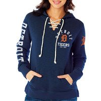 Detroit Tigers Women's Fleece Laced Hood by Soft As A Grape - MLB.com Shop