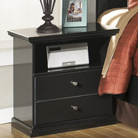 0-000194>Maribel One Drawer Night Stand Black