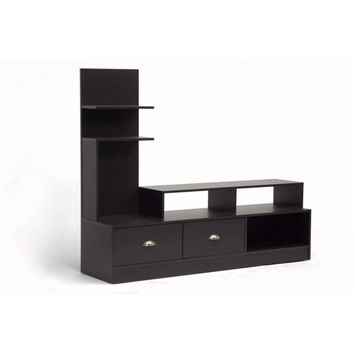 Armstrong Dark Brown Modern TV Stand By Baxton Studio