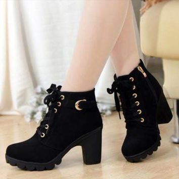 Classic Ankle Length Heel Boots