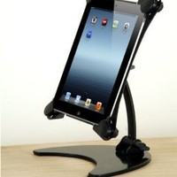 Halter Portable And Foldable Rotating Articulating Metal Desk Stand for All Apple iPad Versions [Excluding iPad Mini]