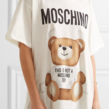 Moschino - Oversized printed cotton-jersey T-shirt