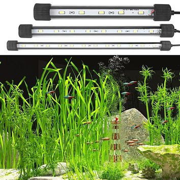 Waterproof LED Aquarium Lights Fish Tank Light Bar for Fish Tank Submersible Underwater Clip Lamp Aquatic Decoration