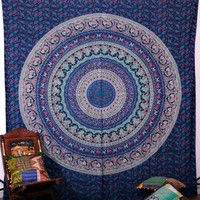 Tiadessa Magical Thinking Blue Large Wall Boho Bohemian Tapestry