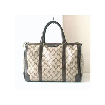 Authentic GUCCI Monogram Boston Tote bag
