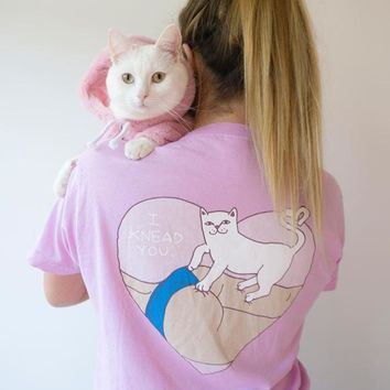 Pink Short Sleeve T-shirts With Pocket Couple Bottoming Shirt [424529690660]