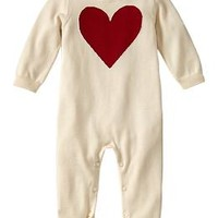 Intarsia heart sweater one-piece
