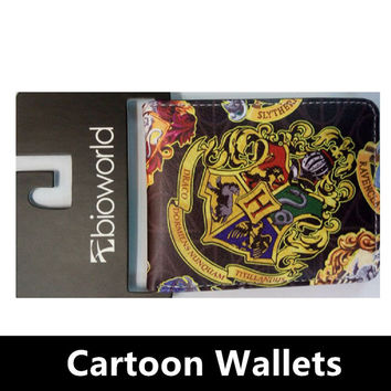 Dc Cartoon Zipper Wallet  Harry Potter Sherlock Zombies Breaking Superman Purse Credit Oyster License Card Man Wallet