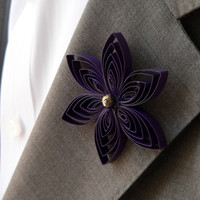 Amethyst Purple Boutonniere, Formal, Amethyst Prom, Purple Quinceanera, Purple Sweet 16, Homecoming