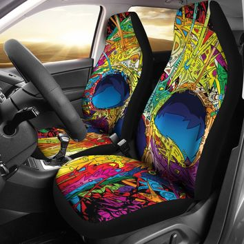 Sugar Skull Design Seat Covers