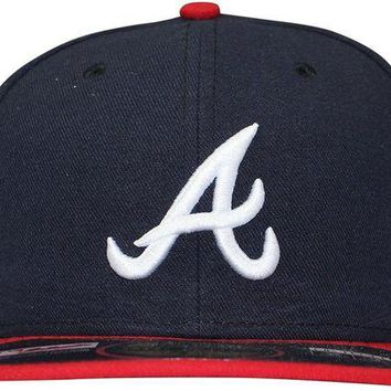 NOVO5 Atlanta Braves New Era Fitted Hat Size 7 1/2