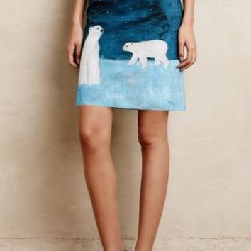 Arctic Scene Twill Skirt by Maeve Blue Motif